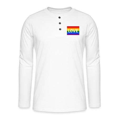 LOVE RETRO T-SHIRT - Henley T-shirt med lange ærmer