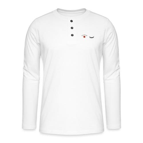 Eye see you - Henley T-shirt med lange ærmer