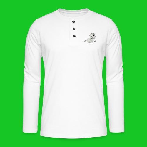 Zeehondje - Henley shirt met lange mouwen