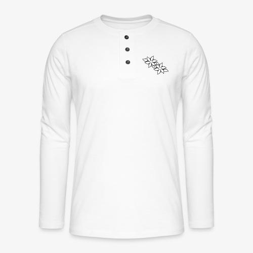 flowers - Henley T-shirt med lange ærmer