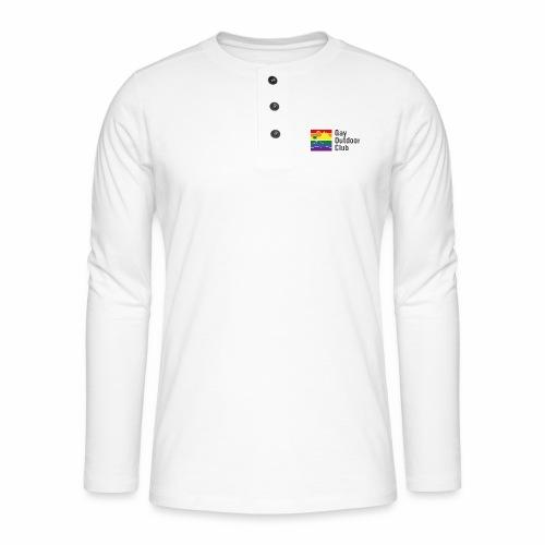 GOC Logo Black Text - Henley long-sleeved shirt