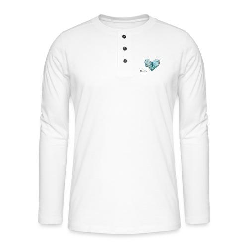 Verleih deinem Herzen Flügel - Henley Langarmshirt