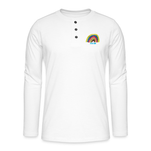Stay Safe Rainbow Tshirt - Henley long-sleeved shirt