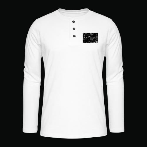 black bafti crew - Henley T-shirt med lange ærmer