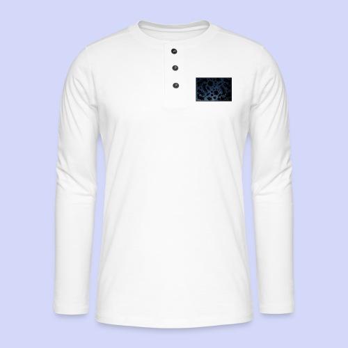 late night doodle - Female Shirt - Henley T-shirt med lange ærmer