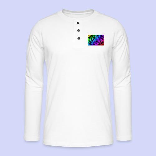 Rainbow doodle - Female shirt - Henley T-shirt med lange ærmer