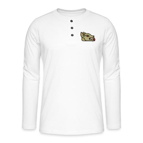 Aztec Icon Dog - Henley long-sleeved shirt