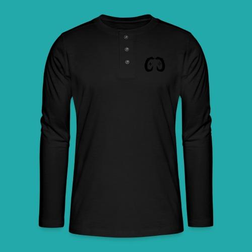 Crowd Control Controller Logo Black Large - Henley long-sleeved shirt