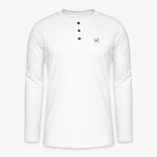 MP logo with social media icons - Henley long-sleeved shirt
