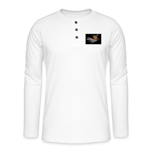 Abstract Bird - Henley long-sleeved shirt