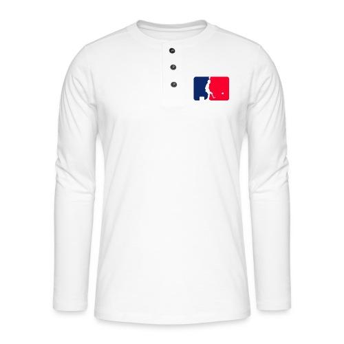 Major League Tipp-Kick Shirt - Henley Langarmshirt