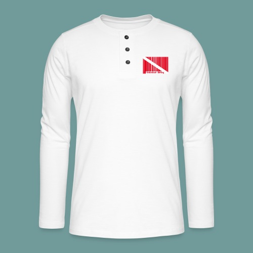 flag_barre_ud - T-shirt manches longues Henley