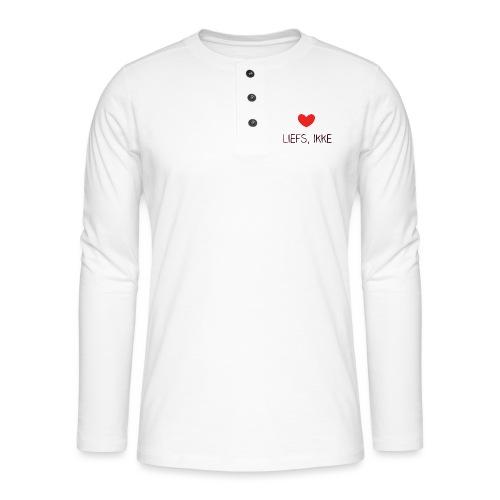 Liefs, ikke (kindershirt) - Henley shirt met lange mouwen