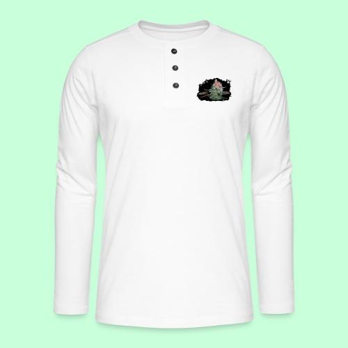 Pflänzchen png - Henley Langarmshirt