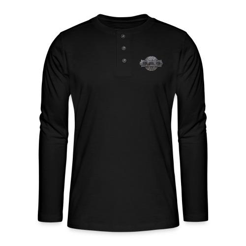 metal background scratches surface 18408 3840x2400 - Henley shirt met lange mouwen