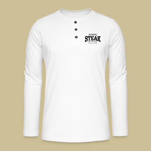 Steak (black) - Henley Langarmshirt