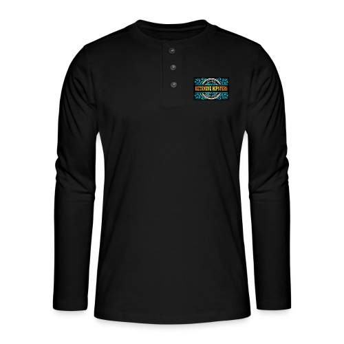 Black Vintage - KETAMINE HIPSTERS Apparel - Henley long-sleeved shirt