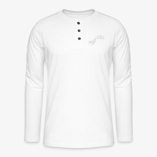 Fuchs schwarz geometrisch - Henley Langarmshirt