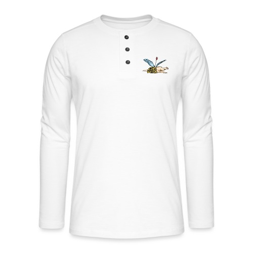 Did Cupid shoot himself, or did some other god of - Henley long-sleeved shirt