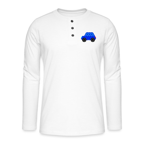 The Car Of Life - M01, Sacred Shapes, Blue/R01. - Henley long-sleeved shirt