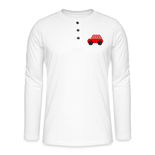 The Car Of Life - M01, Sacred Shapes, Red/R01. - Henley long-sleeved shirt