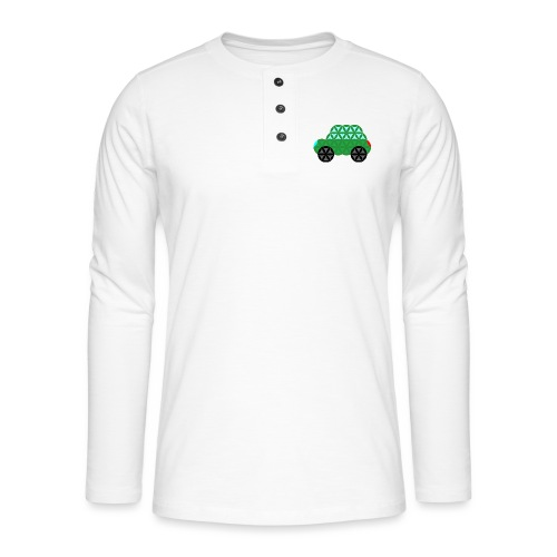 The Car Of Life - M02, Sacred Shapes, Green/363 - Henley long-sleeved shirt