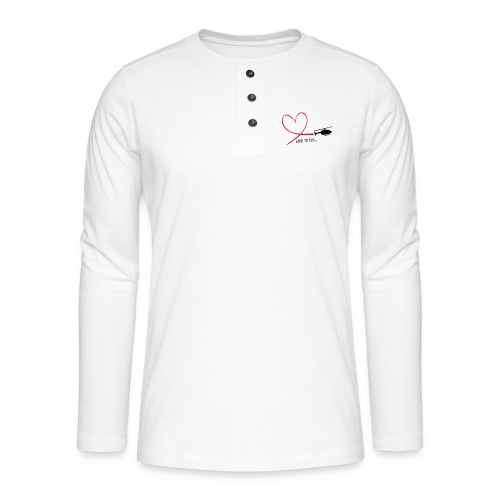 love_to_fly_jet_ranger - Henley Langarmshirt