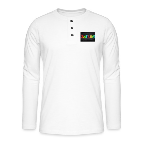 Just love tasse - T-shirt manches longues Henley
