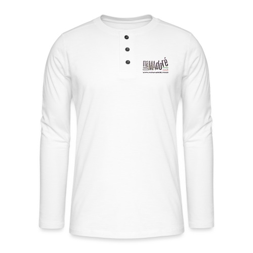 T-Shirt Premium - Uomo - Logo Standard + Sito - Maglia a manica lunga Henley