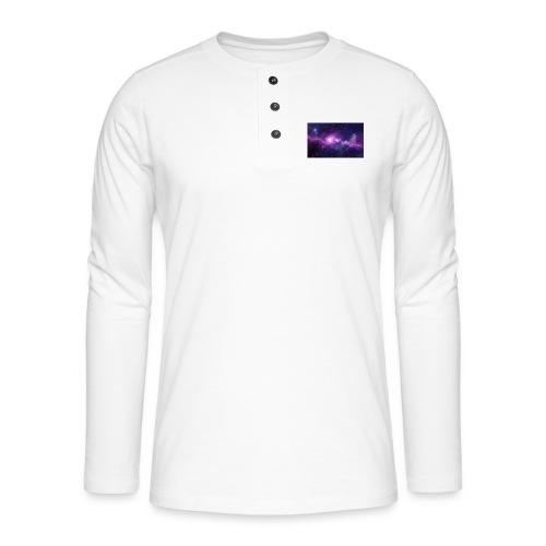 tshirt galaxy - T-shirt manches longues Henley