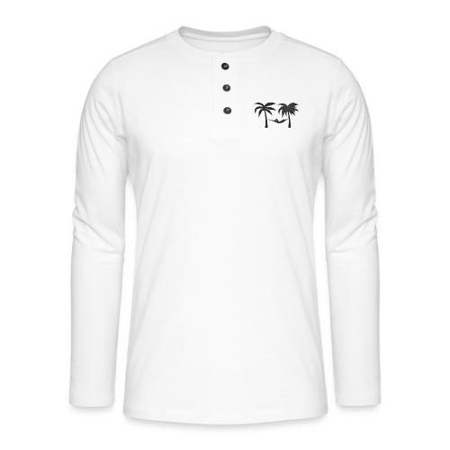 Hängematte mitzwischen Palmen - Henley Langarmshirt