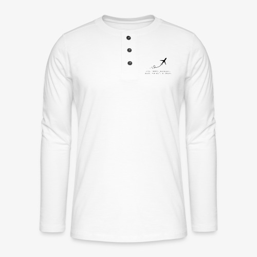 Travel Quotes 2 - Henley long-sleeved shirt