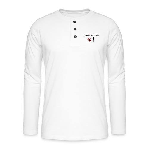 bomse png schwarz - Henley Langarmshirt
