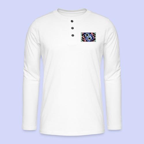 Pastel Rainbow Doodle - Female shirt - Henley T-shirt med lange ærmer