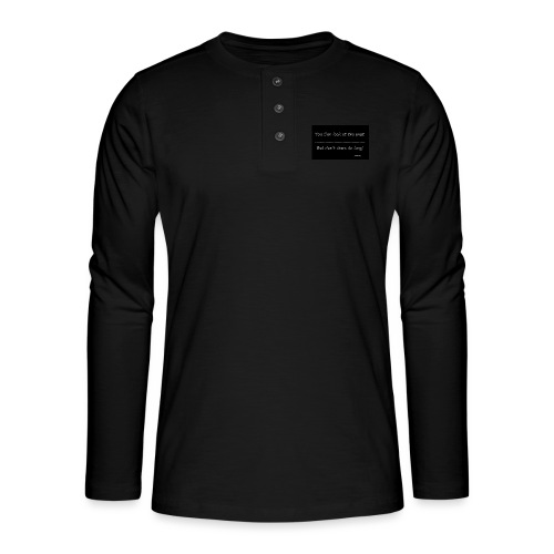 past - Henley shirt met lange mouwen
