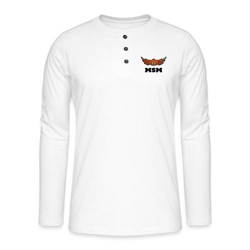 MSM EAGLE - Henley T-shirt med lange ærmer
