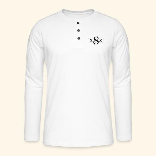 SynapsEyes Logo mittel - Henley Langarmshirt