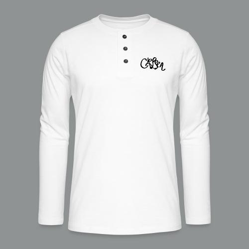 Kinder/ Tiener Shirt Unisex (rug) - Henley shirt met lange mouwen