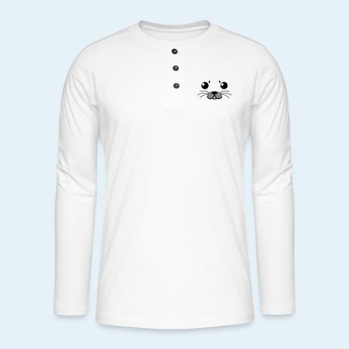 Foca bebé (Cachorros) - Camiseta panadera de manga larga Henley