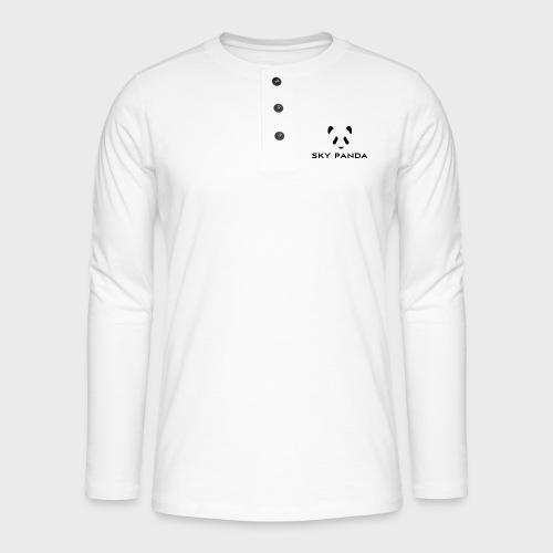Sky Panda Logo - Henley Langarmshirt