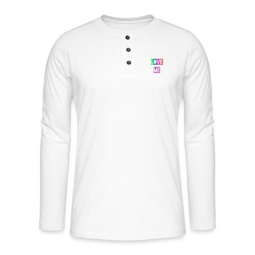 LoveMe - Camiseta panadera de manga larga Henley