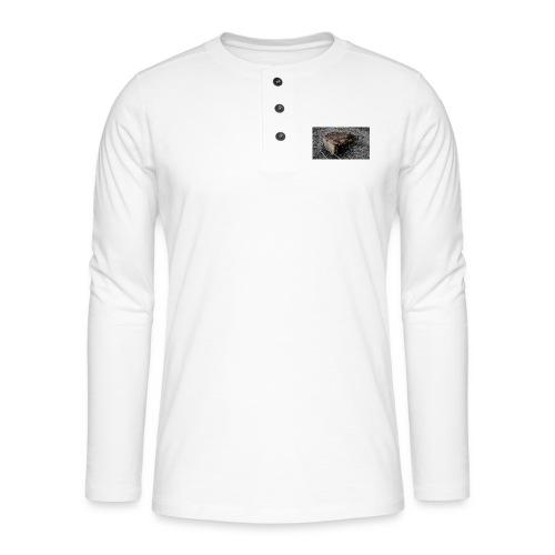 sofa 1 - Henley T-shirt med lange ærmer