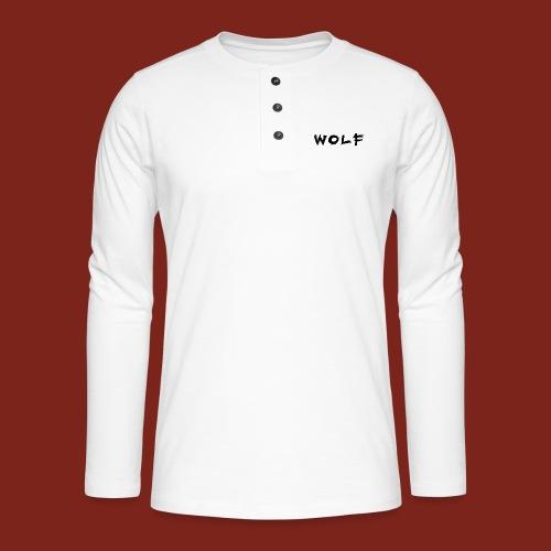 Wolf Font png - Henley shirt met lange mouwen