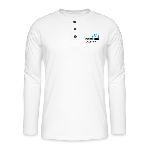 Hydrophilic Occupant (2 colour vector graphic) - Henley long-sleeved shirt