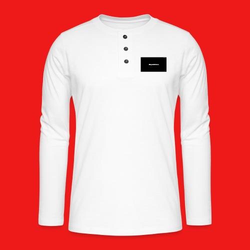 New - Henley T-shirt med lange ærmer