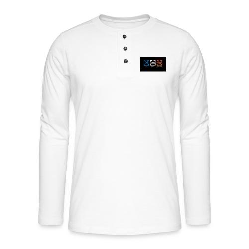 eat_sleep_overclock - Camiseta panadera de manga larga Henley