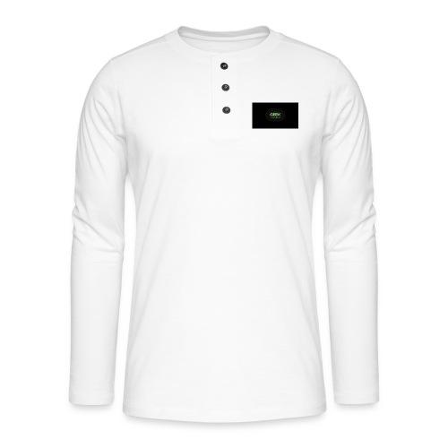 geek_binary_life_style - Camiseta panadera de manga larga Henley