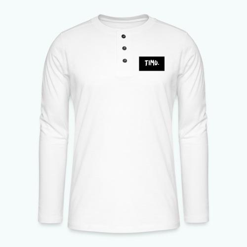 Ontwerp - Henley shirt met lange mouwen