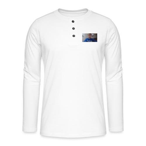 roel t-shirt - Henley shirt met lange mouwen