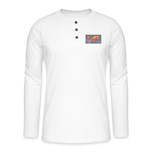 World 3 - Henley Langarmshirt